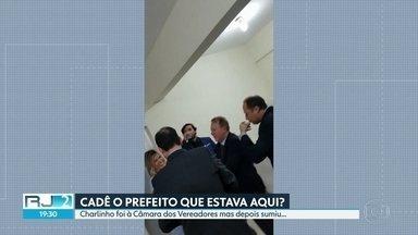 Itaguaí completa 200 anos mas a população não vê motivos para comemorar - O prefeito Charlinho Busatto, do MDB, participou de solenidade na Câmara Municipal, mas não falou com os jornalistas. O povo e a imprensa foram impedidos de acompanhar a cerimônia.