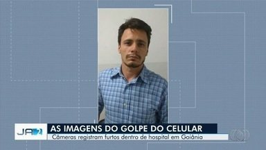 Vídeos mostram ação de ladrão em Hospital das Clínicas, em Goiânia - Autor foi denunciado por se passar por estudante para furtar celulares.