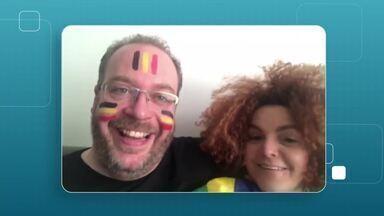 Depois da vitória contra o México, o Brasil tem a Bélgica pela frente - Nossa reportagem mostra como ficam os torcedores belgas que tem uma relação muito próxima com o Brasil