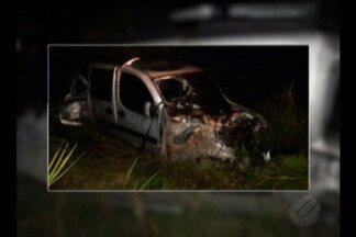 Dois homens morrem em um acidente na Alça Viária - Segundo a polícia o acidente aconteceu devido a uma ultrapassagem irregular.