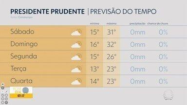 Confira a previsão do tempo com Anderson Camargo - Veja como fica a temperatura em algumas cidades.