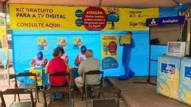 Equipes da Seja Digital continuam com as caravanas pela cidade, no AP - Objetivo é alertar a população sobre a necessidade do conversor na Tv antiga por causa do desligamento do sinal analógico marcado para o dia 14 de Agosto nos municípios de Macapá, Santana e Mazagão