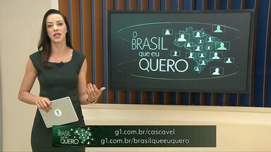 Maripá ainda não está na campanha Brasil que eu Quero - Para participar é só gravar um vídeo contando que Brasil você quer para o futuro e enviar para o G1.