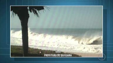 Marinha emite alerta de ressaca para o litoral do Norte Fluminense - Assista a seguir.
