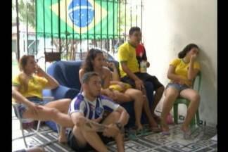Em Belém tudo estava preparado para a vitória, mas, dessa vez, não deu para o Brasil - Paraenses ficaram tristes com a derrota da seleção brasileira.