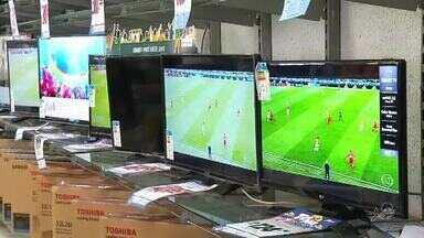 Venda de televisores é reforçada durante o período da Copa do Mundo - Confira mais notícias em g1.globo.com/ce