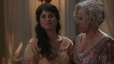 Ofélia obriga Mariana a receber Vicente como pretendente - Felisberto aconselha a filha a aceitar a ideia da mãe para evitar mais problemas