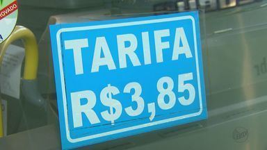 Passagem de ônibus urbano de Araraquara passa a custar R$ 3,85 - Reajuste de R$ 0,25 está previsto no contrato de concessão, afirma prefeitura.