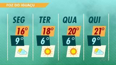 Temperaturas seguem baixas essa semana em Foz do Iguaçu - Na terça e na quarta-feira os termômetros vão marcar seis graus.