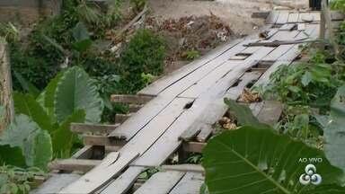 Fala Comunidade: População reclamam de estrutura precária de ponte me Manaus - Local foi mostrado no dia 24 de fevereiro.