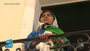 Paquistanesa que recebeu Prêmio Nobel da Paz visita Salvador - Malala Yousafzai visita o Pelourinho, em Salvador na manhã desta terça-feira (10). A paquistanesa vai patrocinar três brasileiras que lutam pela educação de meninas.
