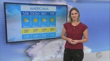 Campinas tem máxima de 27ºC com tempo aberto - Confira a previsão do tempo para as outras cidades da região.