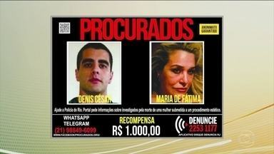 Enterrado nesta quarta (18) corpo da bancária que morreu após procedimento estético no RJ - O corpo da bancária Lilian Calixto foi enterrado em Cuiabá. A polícia ainda procura os responsáveis: o médico Denis Furtado, o Doutor Bumbum, e a mãe dele, Maria de Fátima. Outra indiciada no crime foi levada nesta quarta (18) para o presídio.