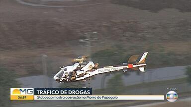 Polícia faz operação contra tráfico de drogas no Morro do Papagaio, em BH - Cerca de 100 policiais cumprem 30 mandados de prisão contra os membros de uma gangue.