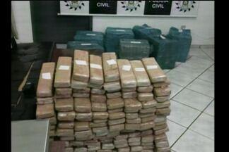 Polícia Civil apreende 350kg de maconha em São Luiz Gonzaga - Um homem de 22 anos que estava com a droga foi preso.