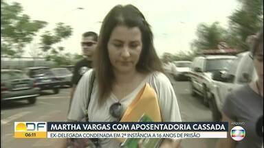 Ex-delegada do caso da 113 Sul teve a aposentadoria cassada - Decisão foi publicada no Diário Oficial desta quinta (19). Martha Vargas foi condenada em segunda instância a 16 anos de prisão por má condução nas investigações.