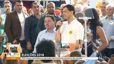 PSD lança Indio da Costa como candidato ao governo do estado - Convenção do partido foi neste sábado (21), na Tijuca. Vice será Zaqueu Teixeira, também do PSD.