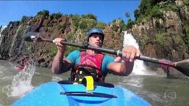 Sobre Rodas: Fernando Fernandes encara corredeiras nas Cataratas do Iguaçu - Sobre Rodas: Fernando Fernandes encara corredeiras nas Cataratas do Iguaçu