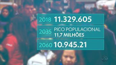 População gaúcha deve diminuir e ficar mais velha, aponta IBGE - Em 2060, serão cerca de 100 crianças para 207 idosos.