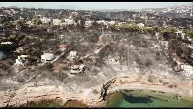Sobe para 80 o número de mortos nos incêndios florestais na Grécia - Chefe dos bombeiros da cidade de Mati, a mais atingida, disse que a construção desordenada dificultou a fuga dos moradores.