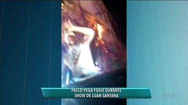 Palco pega fogo durante show de Luan Santana - Foi em Cianorte.