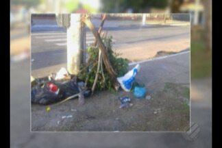 Telespectador flagra homem despejando lixo em praça da capital - Praça fica na av. Senador Lemos.