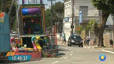 Parque são montados para Festa das Neves em João Pessoa - Festa começa no próximo sábado.