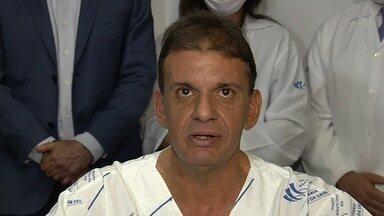 Advogado é o primeiro paciente a passar por transplante de fígado em Goiás - HGG lançou o Serviço Estadual de Transplantes Hepáticos, em Goiânia. Segundo a Secretaria de Saúde, há 42 goianos na fila de espera pelo procedimento.