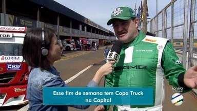 Pilotos e caminhões da Copa Truck já estão em Campo Grande - Cidade recebe etapa da competição no fim de semana.