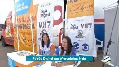 Bairro Moreninhas recebe o Feirão Digital nesta sexta-feira - População tem a oportunidade de comprar kit digital por um preço mais em conta.