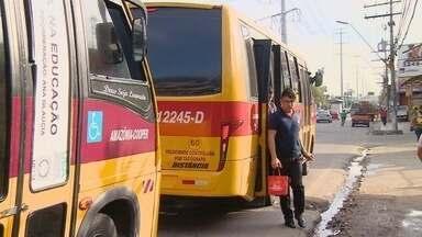 Em Manaus, operação fiscaliza ônibus do transporte alternativo - Medidas estão sendo tomadas para renovação da frota.