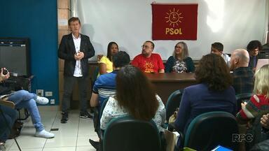 PSOL faz convenção partidária pra escolher candidato - A reunião foi pra escolher o nome que vai representar o partido aqui no Paraná.
