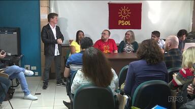 Psol faz convenção partidária em Curitiba - O Partido Socialismo e Liberdade escolheu seu representante nas eleições para o governo do Paraná. PPL também realizou a convenção partidária, em Cascavel.