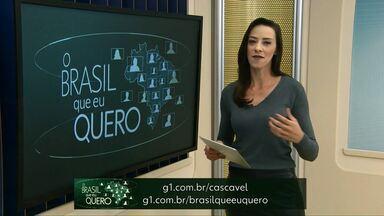 Que Brasil você quer para o futuro? - Diamante do Sul, Entre Rios do Oeste e Maripá ainda não participaram da campanha.