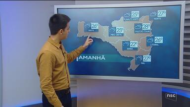 Veja como ficará o tempo em todas as regiões de SC neste sábado (28) - Veja como ficará o tempo em todas as regiões de SC neste sábado (28)