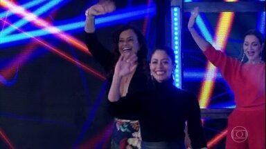 Um time de 'O Tempo Não Para' se enfrenta no 'Ding Dong' - Na disputa, estarão Carol Castro e Solange Couto contra Aline Dias e Alexandra Richter