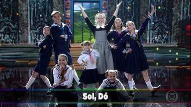 O elenco do musical 'A Noviça Rebelde' canta 'Dó-Ré-Mi' - O clássico levanta a galera no Domingão