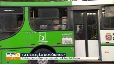 Termina nesta segunda (30) para prefeitura da capital esclarecer contratos de ônibus - O Tribunal de Contas do Município fez questionamento sobre o edital de licitação de transporte público da capital. O prazo termina nesta segunda-feira (30).