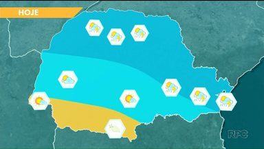 Semana começa com previsão de chuva - Pode chover agora à tarde na região Norte e Noroeste.