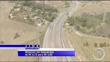Preço do pedágio em Paraibuna, vai ficar mais caro - O aumento é de R$0,10.