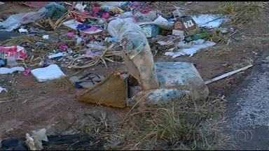 Margens da rodovia TO-374 são usadas como depósito de lixo - Margens da rodovia TO-374 são usadas como depósito de lixo