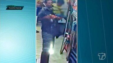 Homem com criança no colo furta supermercado em Santarém - Vídeo foi enviado por telespectador ao Jornal Tapajós.