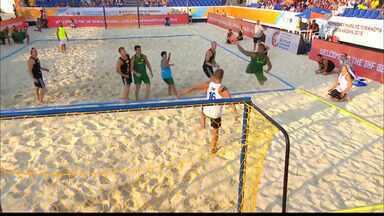 Paraibanos se destacam no Mundial de Handebol de Areia - Paraibanos, base da seleção, conquistam medalhas nem Kazam.