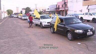 Centenas de motoristas participaram da tradicional carreata a São Cristovão - Centenas de motoristas participaram da tradicional carreata a São Cristovão