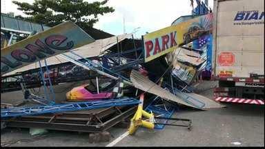 JPB2JP: Caminhão bate em brinquedo montado na Festa das Neves - Outros acidentes aconteceram na Capital.