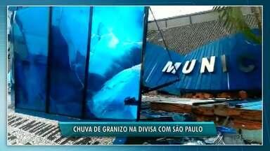 Temporal destrói prédios na divisa com São Paulo - Câmara Municipal foi atingida.