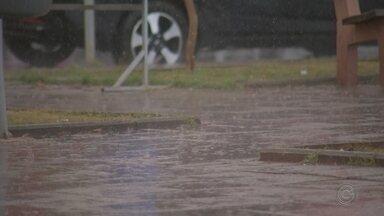 Chove em Itapetininga após 45 dias de estiagem e maior seca dos últimos anos - Após 45 dias de estiagem, choveu em Itapetininga (SP) na manhã desta segunda-feira (30). A pancada de chuva aconteceu por volta das 7h30.