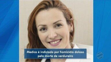 Médica é indiciada por homicídio doloso por atropelar e matar verdureiro - Médica é indiciada por homicídio doloso por atropelar e matar verdureiro.