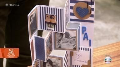 Aprenda a fazer um cartão em 3D personalizado - Dica é ótimo presente para o Dia dos Pais