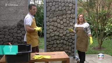 Dê uma cara nova para a sua casa - Aprenda a fazer paredes e muros de pedras falsas
